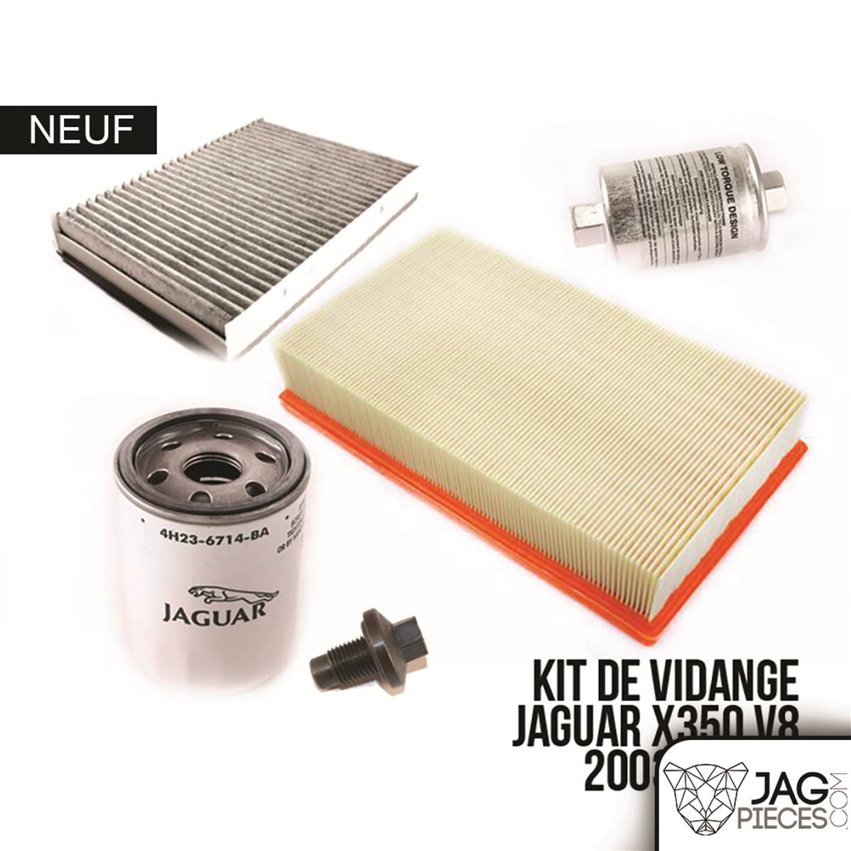 kit de vidange moteur x350 kvxjv8 jaguar xj x350 2003 2009 v8 essence. Black Bedroom Furniture Sets. Home Design Ideas