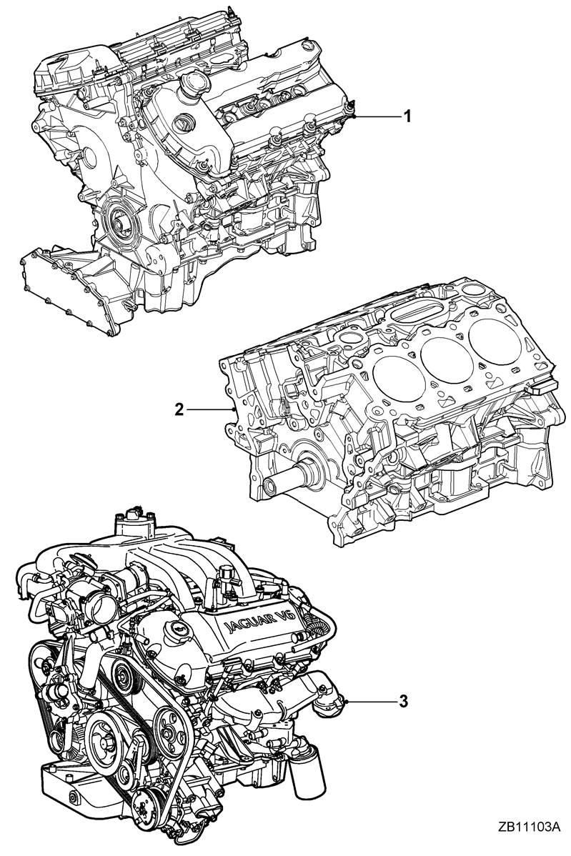 moteur 2 5l v6    xr842791    jaguar s-type  1999   v6