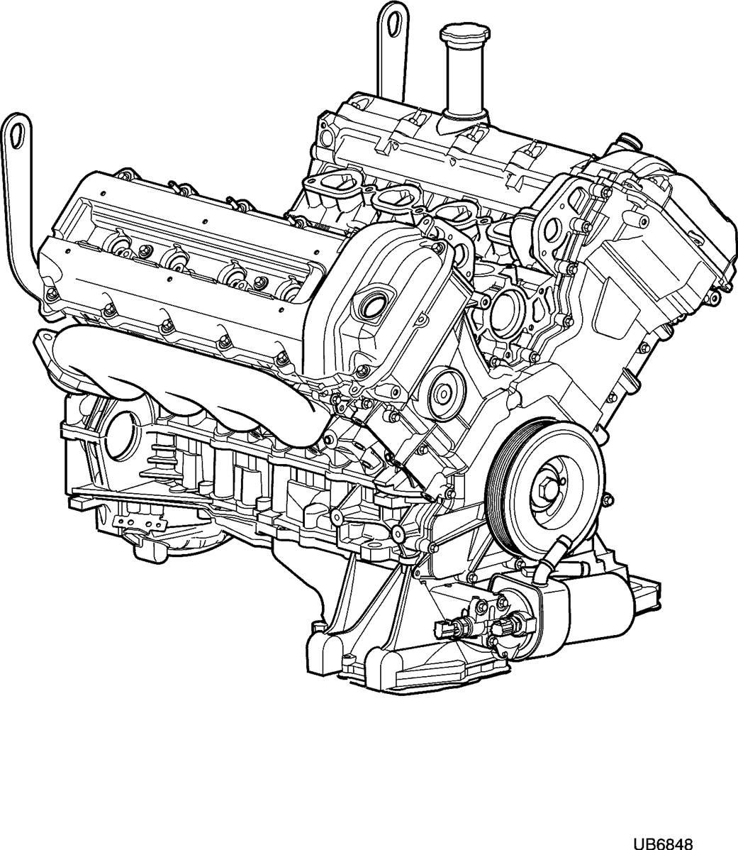 moteur 4 2l v8    aj82256    jaguar s-type  1999   v8