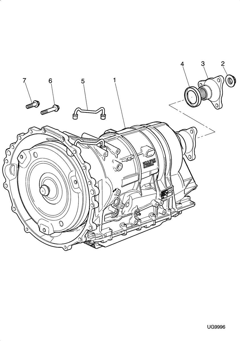 boite de vitesse automatique zf 6hp26    c2c33744    jaguar